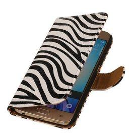 iHoez.nl Zebra Samsung Galaxy S7 Boekhoesje Wit