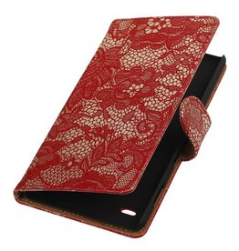 iHoez.nl Lizard Booktype Hoes voor Sony Xperia Z5 Compact Rood