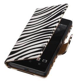 iHoez.nl Zebra Booktype Hoes voor Sony Xperia Z5 Compact Wit