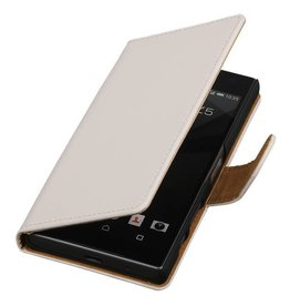 iHoez.nl Effen Booktype Hoes voor Sony Xperia Z5 Compact Wit