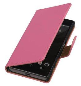 iHoez.nl Effen Booktype Hoes voor Sony Xperia Z5 Compact Roze