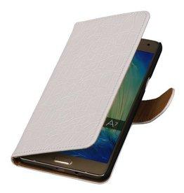 iHoez.nl Croco Samsung A7 (2016) hoesje Wit