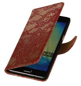 iHoez.nl Lace Samsung A7 (2016) hoesje Rood
