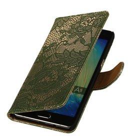 iHoez.nl Lace Samsung A7 (2016) hoesje Donker Groen