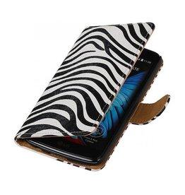 iHoez.nl Zebra LG K10 boekhoesje Wit