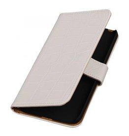 iHoez.nl Croco LG G5 boekhoesje Wit