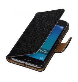 iHoez.nl Snake Samsung Galaxy J1 mini boekhoesje Zwart