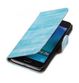 iHoez.nl Lizard Samsung Galaxy J1 mini boekhoesje Turquoise