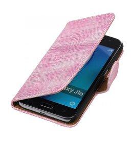 iHoez.nl Lizard Samsung Galaxy J1 mini boekhoesje Roze