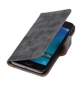 iHoez.nl Lizard Samsung Galaxy J1 mini boekhoesje Grijs