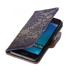 iHoez.nl Lace Samsung Galaxy J1 mini boekhoesje Blauw