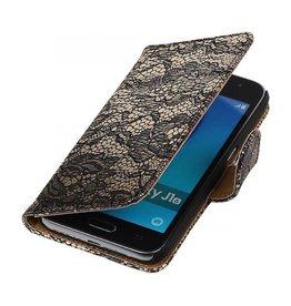 iHoez.nl Lace Samsung Galaxy J1 mini boekhoesje Zwart