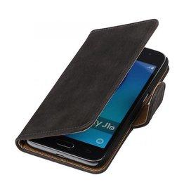 iHoez.nl Bark Samsung Galaxy J1 mini boekhoesje Grijs