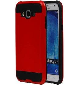 iHoez.nl Tough Armor Samsung Galaxy J7 rood hoesje TPU