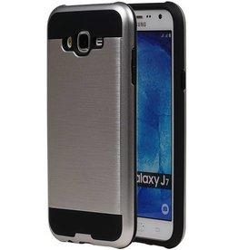 iHoez.nl Tough Armor Samsung Galaxy J7 zilver hoesje TPU