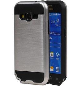 iHoez.nl Tough Armor Samsung Galaxy Grand Prime zilver hoesje TPU