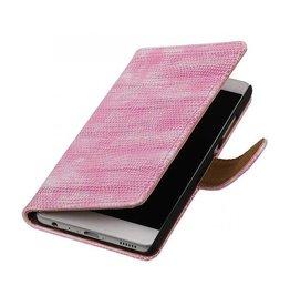 iHoez.nl Lizard boekhoesje Huawei P9 Roze