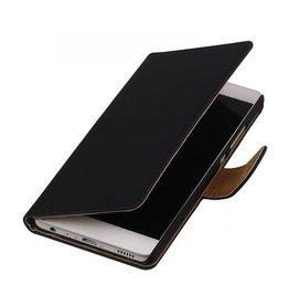 iHoez.nl Effen boekhoesje Huawei P9 Zwart