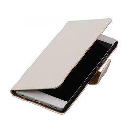 iHoez.nl Effen boekhoesje Huawei P9 Wit