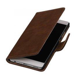 iHoez.nl Bark boekhoesje Huawei P9 Bruin