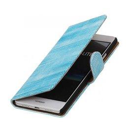 iHoez.nl Lizard boekhoesje Huawei P9 Lite Turquoise