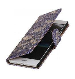 iHoez.nl Lace boekhoesje Huawei P9 Lite Blauw