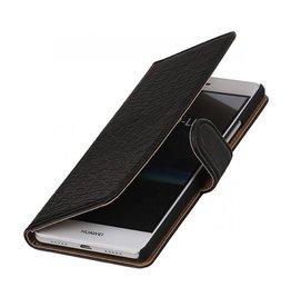 iHoez.nl Croco boekhoesje Huawei P9 Lite Zwart