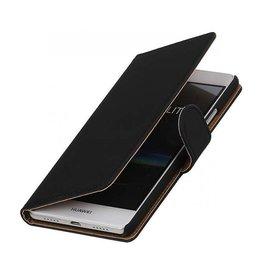 iHoez.nl Effen boekhoesje Huawei P9 Lite Zwart