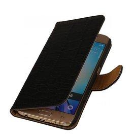 iHoez.nl Croco Samsung Galaxy S7 Edge Zwart