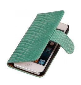 iHoez.nl Snake boekhoesje iPhone SE Turqiouse