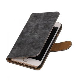 iHoez.nl Lizard iPhone 7 boekhoesje grijs