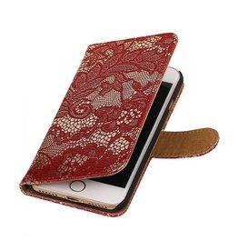 iHoez.nl Lace iPhone 7 boekhoesje rood