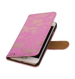 iHoez.nl Lace iPhone 7 boekhoesje roze
