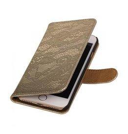iHoez.nl Lace iPhone 7 boekhoesje goud