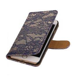 iHoez.nl Lace iPhone 7 boekhoesje blauw