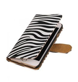 iHoez.nl Zebra iPhone 7 boekhoesje wit