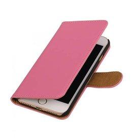 iHoez.nl Effen iPhone 7 boekhoesje roze