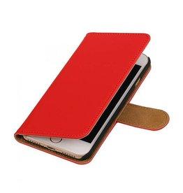 iHoez.nl Effen iPhone 7 boekhoesje rood