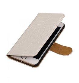 iHoez.nl Croco iPhone 7 boekhoesje wit