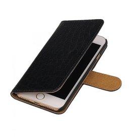 iHoez.nl Croco iPhone 7 boekhoesje zwart