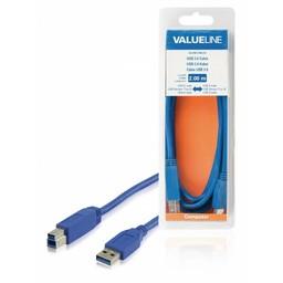 <br />  USB 3.0 kabel USB A mannelijk - USB B mannelijk 2,00 m blauw
