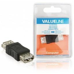 <br />  USB 2.0 adapter USB A vrouwelijk - USB A vrouwelijk zwart