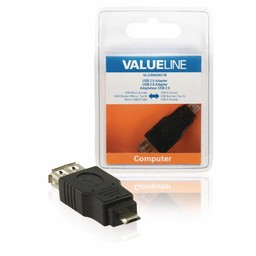 <br />  USB 2.0 USB Micro B mannelijk - USB A vrouwelijk adapter zwart
