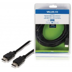 <br />  High Speed HDMI-kabel met ethernet HDMI-connector - HDMI-connector 5,00 m zwart