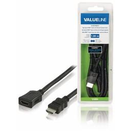 <br />  Verlengkabel voor de High Speed HDMI-kabel met ethernet HDMI-connector - HDMI-input 1,00 m zwart