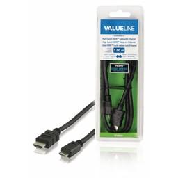 <br />  High Speed HDMI-kabel met ethernet HDMI-connector - HDMI mini-connector 1,00 m zwart