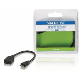 <br />  High Speed HDMI-kabel met ethernet HDMI mini-connector - HDMI input 0,20 m zwart