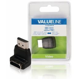 <br />  HDMI adapter HDMI connector 90° gehoekt - HDMI input zwart