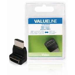 <br />  HDMI adapter HDMI connector 270° gehoekt - HDMI input zwart