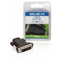 <br />  DVI - HDMI adapter DVI mannelijk - HDMI input zwart